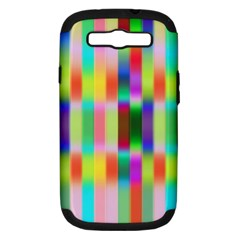 Multicolored Irritation Stripes Samsung Galaxy S Iii Hardshell Case (pc+silicone)