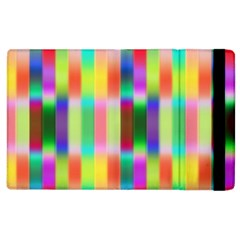 Multicolored Irritation Stripes Apple Ipad 3/4 Flip Case