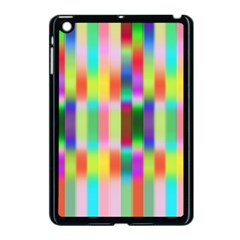 Multicolored Irritation Stripes Apple Ipad Mini Case (black) by designworld65