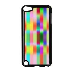 Multicolored Irritation Stripes Apple Ipod Touch 5 Case (black)