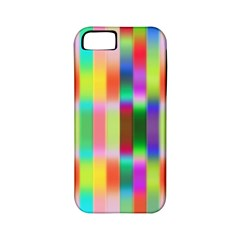 Multicolored Irritation Stripes Apple Iphone 5 Classic Hardshell Case (pc+silicone)