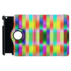 Multicolored Irritation Stripes Apple Ipad 2 Flip 360 Case