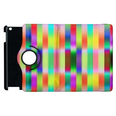 Multicolored Irritation Stripes Apple Ipad 3/4 Flip 360 Case by designworld65