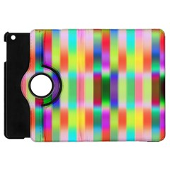 Multicolored Irritation Stripes Apple Ipad Mini Flip 360 Case