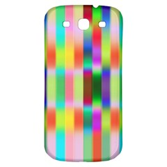 Multicolored Irritation Stripes Samsung Galaxy S3 S Iii Classic Hardshell Back Case