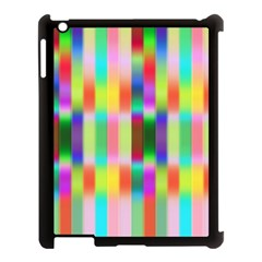 Multicolored Irritation Stripes Apple Ipad 3/4 Case (black)