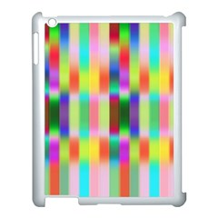 Multicolored Irritation Stripes Apple Ipad 3/4 Case (white)