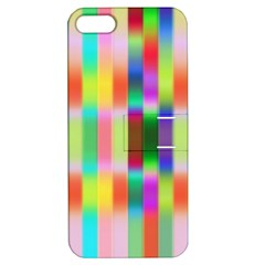 Multicolored Irritation Stripes Apple Iphone 5 Hardshell Case With Stand