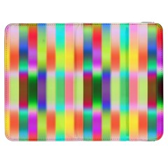 Multicolored Irritation Stripes Samsung Galaxy Tab 7  P1000 Flip Case