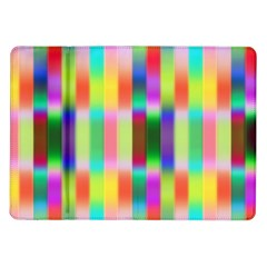 Multicolored Irritation Stripes Samsung Galaxy Tab 10 1  P7500 Flip Case by designworld65