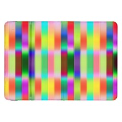Multicolored Irritation Stripes Samsung Galaxy Tab 8 9  P7300 Flip Case
