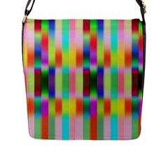 Multicolored Irritation Stripes Flap Messenger Bag (l)