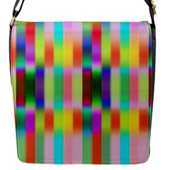 Multicolored Irritation Stripes Flap Messenger Bag (s)