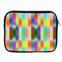 Multicolored Irritation Stripes Apple Ipad 2/3/4 Zipper Cases