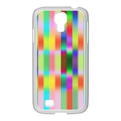Multicolored Irritation Stripes Samsung Galaxy S4 I9500/ I9505 Case (white)