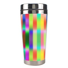 Multicolored Irritation Stripes Stainless Steel Travel Tumblers