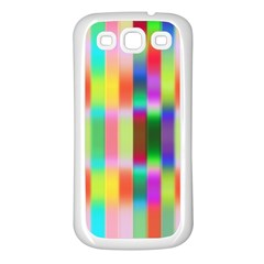 Multicolored Irritation Stripes Samsung Galaxy S3 Back Case (white) by designworld65