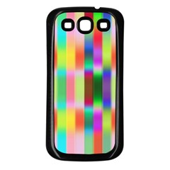 Multicolored Irritation Stripes Samsung Galaxy S3 Back Case (black)