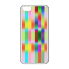 Multicolored Irritation Stripes Apple Iphone 5c Seamless Case (white)