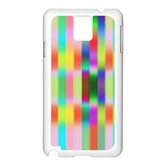 Multicolored Irritation Stripes Samsung Galaxy Note 3 N9005 Case (white)