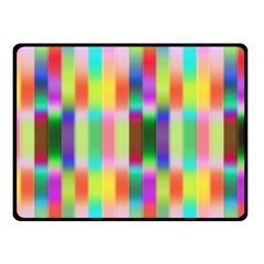 Multicolored Irritation Stripes Double Sided Fleece Blanket (small)