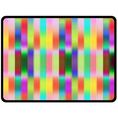 Multicolored Irritation Stripes Double Sided Fleece Blanket (large)