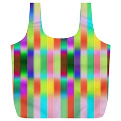 Multicolored Irritation Stripes Full Print Recycle Bags (l)  by designworld65