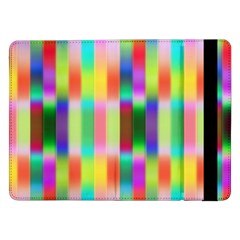 Multicolored Irritation Stripes Samsung Galaxy Tab Pro 12 2  Flip Case by designworld65