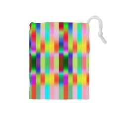 Multicolored Irritation Stripes Drawstring Pouches (medium)  by designworld65