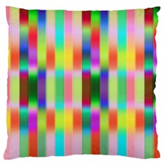 Multicolored Irritation Stripes Large Flano Cushion Case (one Side) by designworld65