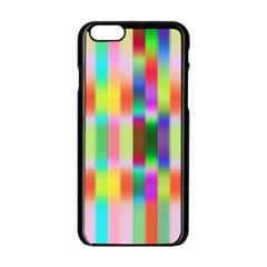 Multicolored Irritation Stripes Apple Iphone 6/6s Black Enamel Case by designworld65