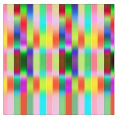 Multicolored Irritation Stripes Large Satin Scarf (square) by designworld65