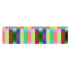 Multicolored Irritation Stripes Satin Scarf (oblong)
