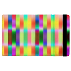 Multicolored Irritation Stripes Apple Ipad Pro 9 7   Flip Case by designworld65