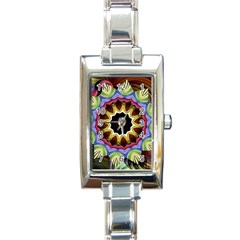 Love Energy Mandala Rectangle Italian Charm Watch by designworld65