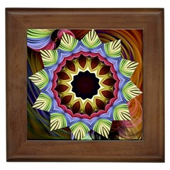 Love Energy Mandala Framed Tiles by designworld65