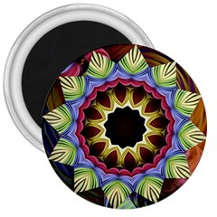 Love Energy Mandala 3  Magnets by designworld65