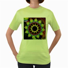 Love Energy Mandala Women s Green T Shirt