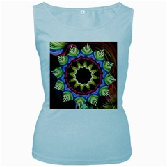 Love Energy Mandala Women s Baby Blue Tank Top