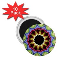 Love Energy Mandala 1 75  Magnets (10 Pack)