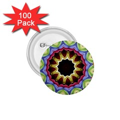 Love Energy Mandala 1 75  Buttons (100 Pack)