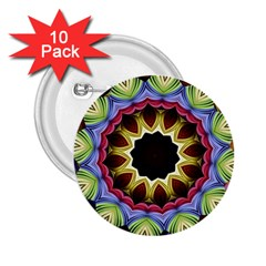 Love Energy Mandala 2 25  Buttons (10 Pack)  by designworld65
