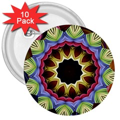 Love Energy Mandala 3  Buttons (10 Pack)  by designworld65