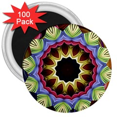 Love Energy Mandala 3  Magnets (100 Pack)