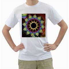 Love Energy Mandala Men s T Shirt (white) (two Sided) by designworld65