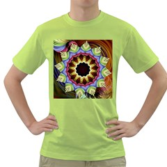 Love Energy Mandala Green T Shirt