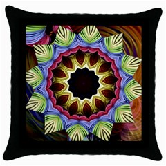 Love Energy Mandala Throw Pillow Case (black)