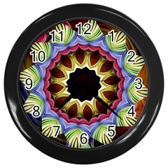 Love Energy Mandala Wall Clocks (black) by designworld65