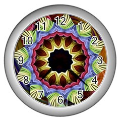 Love Energy Mandala Wall Clocks (silver)
