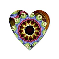 Love Energy Mandala Heart Magnet by designworld65